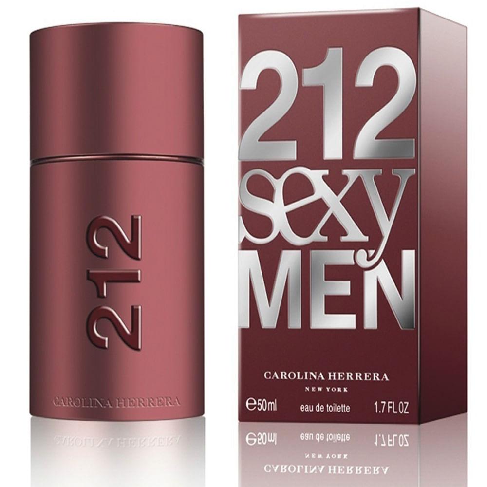 212 Sexy Men De Carolina Herrera Eau De Toilette Masculino 50 ml