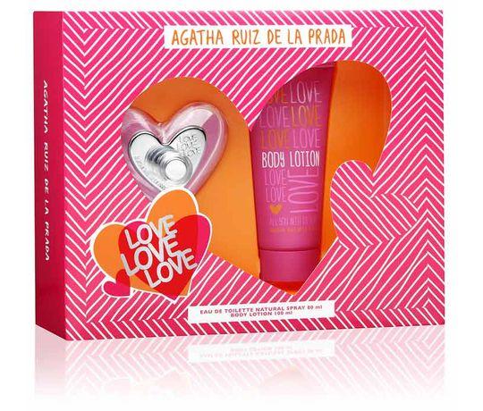Estojo Love Love Love Body Lotion Agatha Ruiz de La Prada Eau de Toilette Feminino 80 Ml