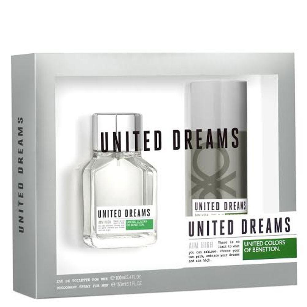 b04f7f17c Kit United Dreams Aim High Benetton Eau de Toilette Masculino - 100 ml