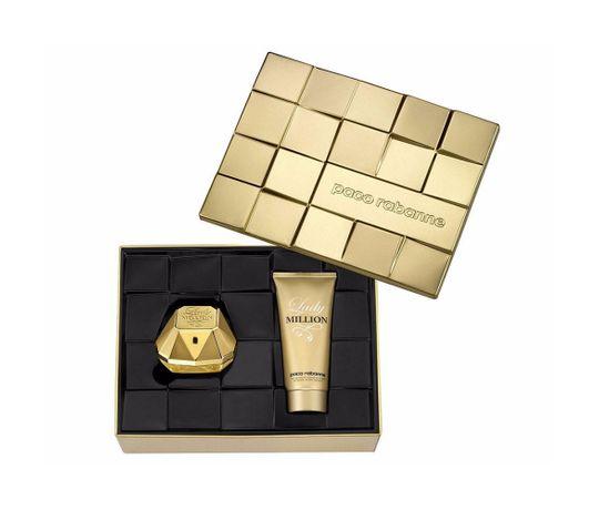 Lady-Million-Eau-de-Parfum-Paco-Rabanne---Perfume-Feminino-80-ml---Locao-Corporal-100ml---Kit