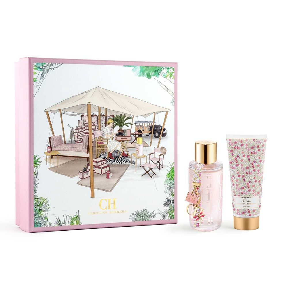 37dd39c9e Kit Perfume CH L eau Carolina Herrera Feminino Eau de Toilette 100ml ...