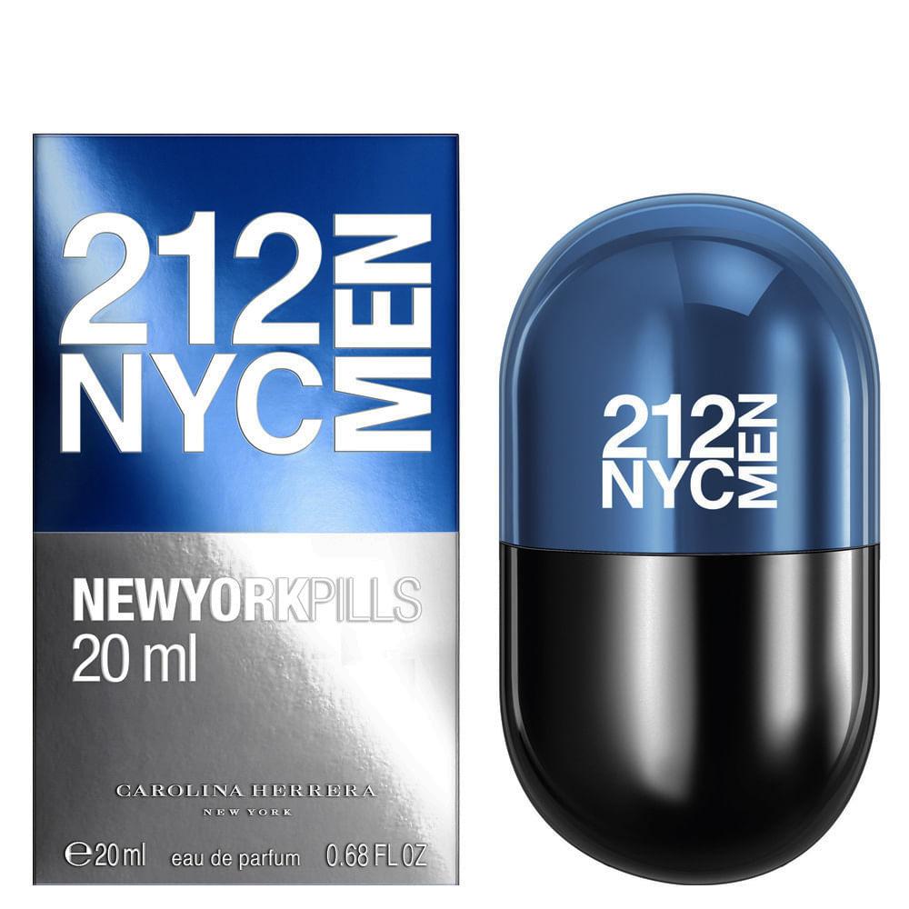 212 Men New York Pills By Carolina Herrera Eau de Toilette Masculino - 20 ml 32b8d55f5b