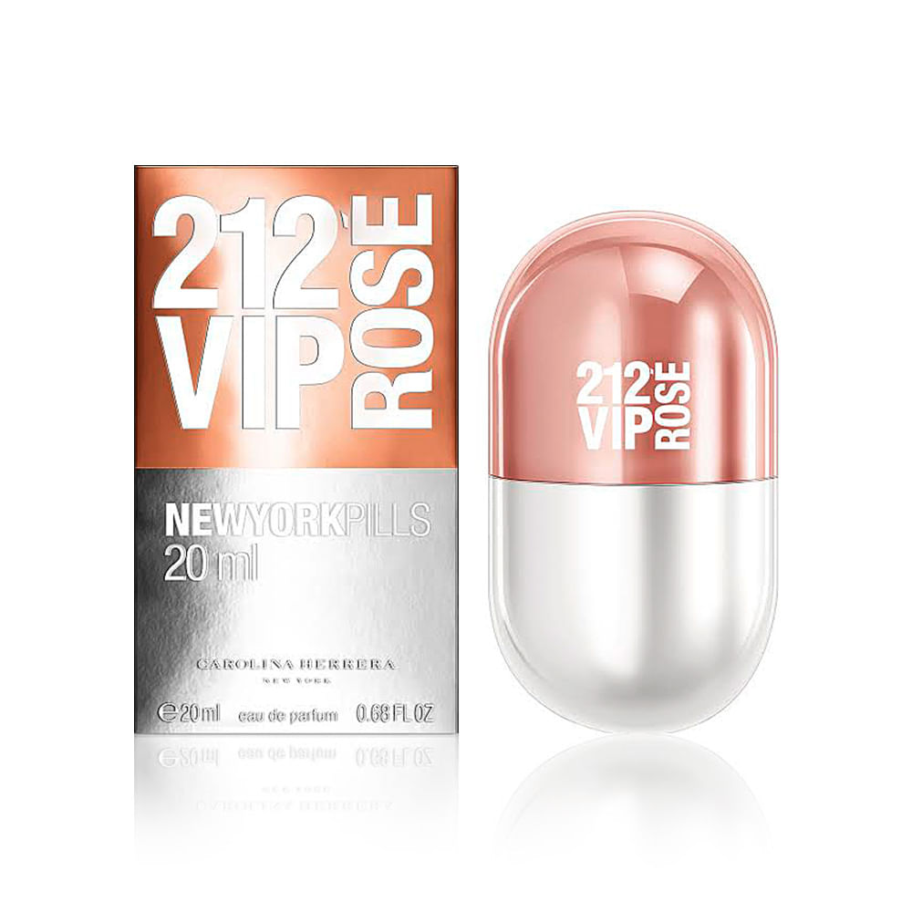 17758b2e3e7c9 ... Herrera Eau de Parfum Feminino - 20 ml. 212-Vip-Rose-New-York-Pills-By- Carolina-