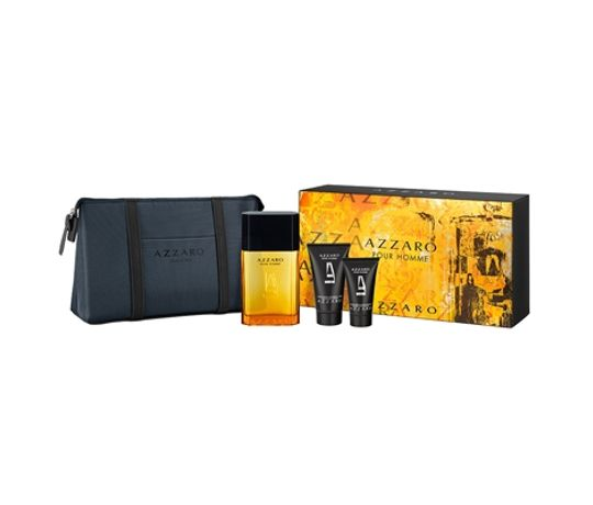 Kit-Azzaro-Pour-Homme-Eau-de-Toilette-100ml---Hair---Body-Shampoo-50ml---After-Shave-Balm-30ml---Necessaire-Masculino-Azzaro