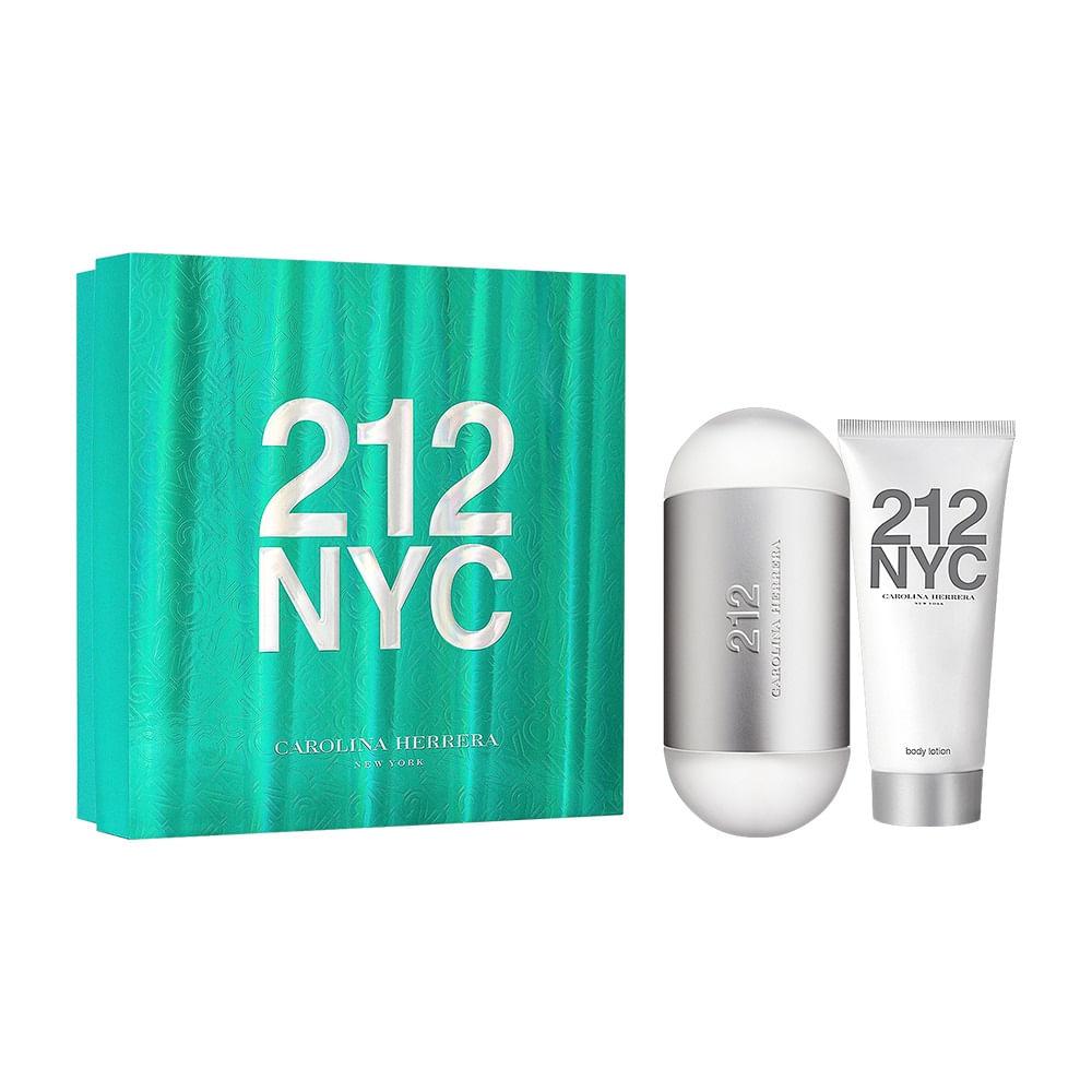 a3b3d635d Kit 212 NYC Carolina Herrera Eau de Toilette + Loção Corporal - 100 ml