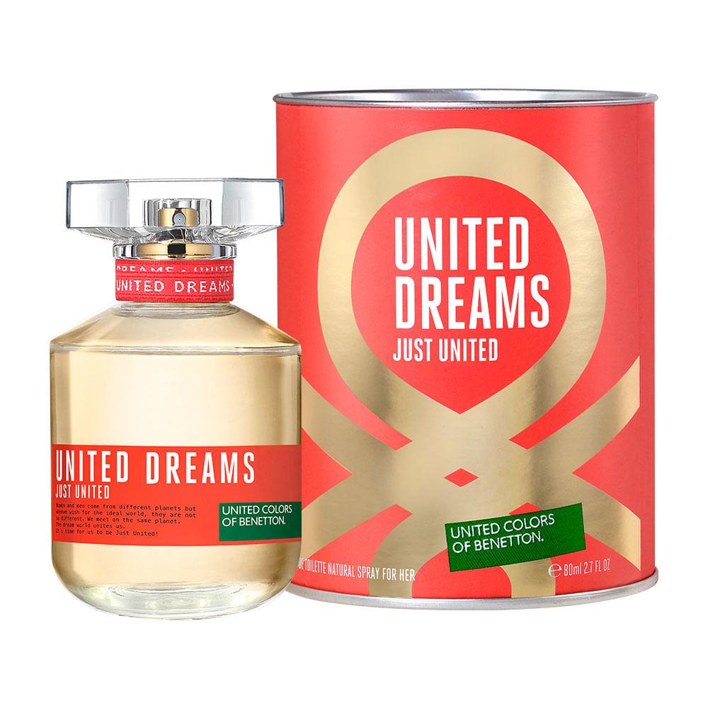 United Dreams Just United de Benetton Feminino Eau de Toilette - 80 ml c1a740c422