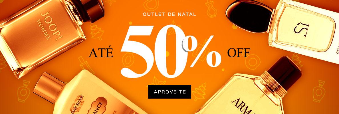 06/12 - Outlet de Natal: Até 50% OFF (on)