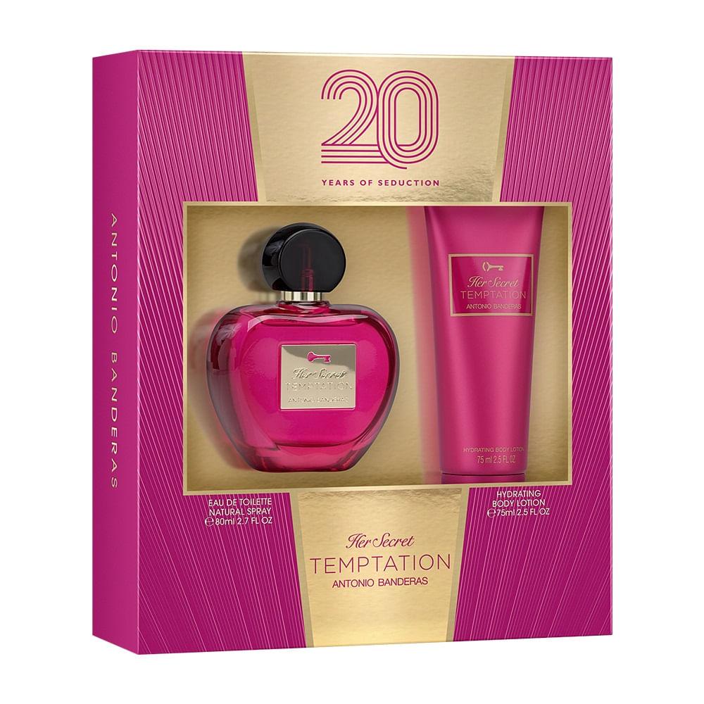 df50dfe64 Kit Her Secret Temptation De Antonio Banderas Eau De Toilette Feminino 80  Ml E Loção Corporal 75 Ml - 80 ml
