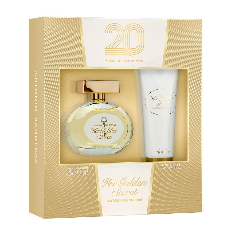 737d2c92da Kit Her Golden Secret De Antonio Banderas Eau De Toilette Feminino - 80 ml
