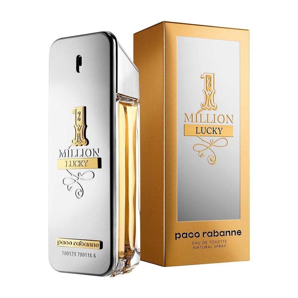 02c837da59 1 Million Lucky De Paco Rabanne Eau De Toilette Masculino - AZPerfumes