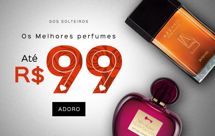14/05 - SOS Solteiros - Os Melhores perfumes até R$ 99,00 (on)