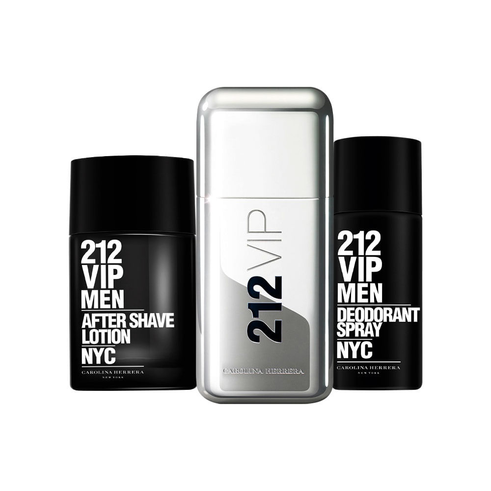 Kit 212 VIP Men (Perfume 50ml + Desodorante + Pós Barba) - 50 ml. Carolina  Herrera c72b4b1d8e