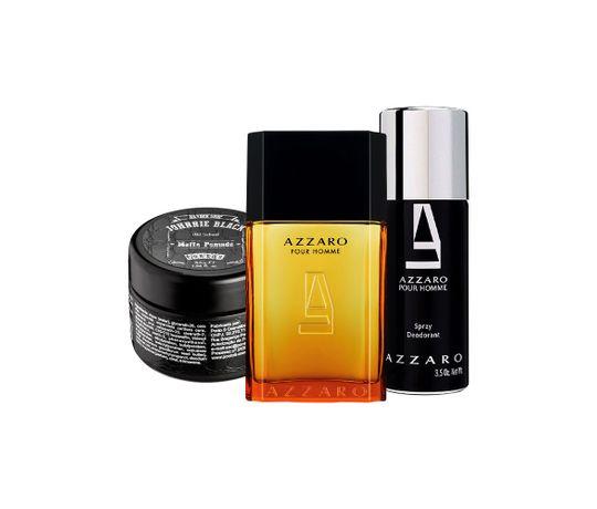 97a6c94b8 Kit Azzaro (Perfume 50ml + desodorante + Pomada modeladora para cabelos) -  50 ml