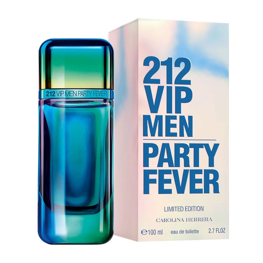 212 Vip Men Party Fever De Carolina Herrera Eau De Toilette Masculino  Edição Limitada - 100 ml 100049e229