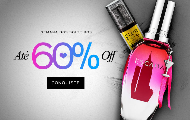 13/08 - Semana dos Solteiros 60% OFF (on)
