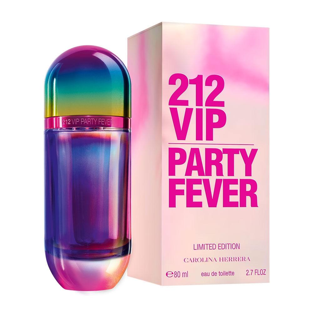 212 Vip Party Fever De Carolina Herrera Eau De Toilette Feminino Edição  Limitada - 80 ml 6455397df7