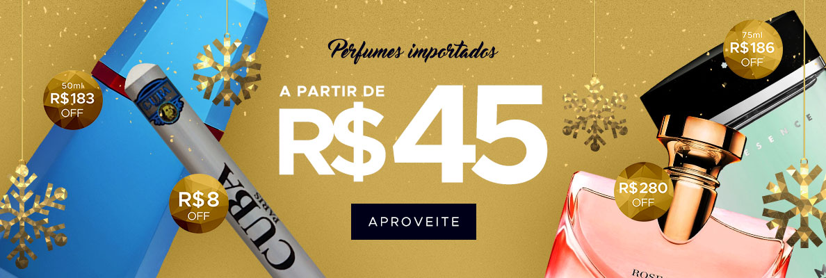 05/12 - Perfumes Importados a partir de R$ 45,00 (on)