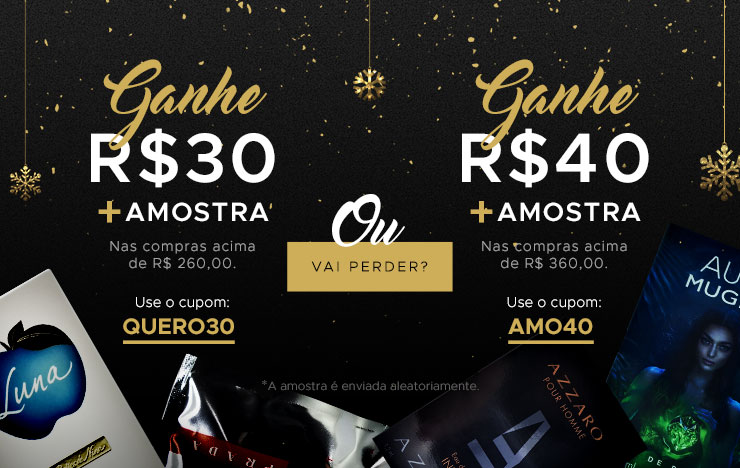 07/12 - Ganhe R$ 30 ou Ganhe R$ 40 (on)