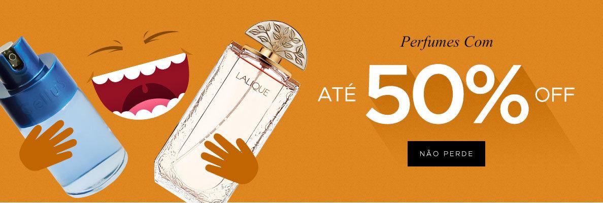 perfumes com até 50%(on)