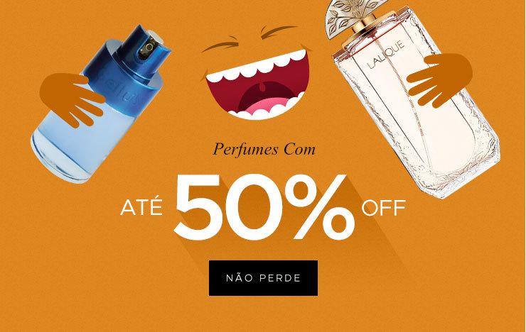 Perfumes com até 50%