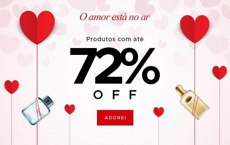 O amor está no ar: Produtos até 72% OFF (on)
