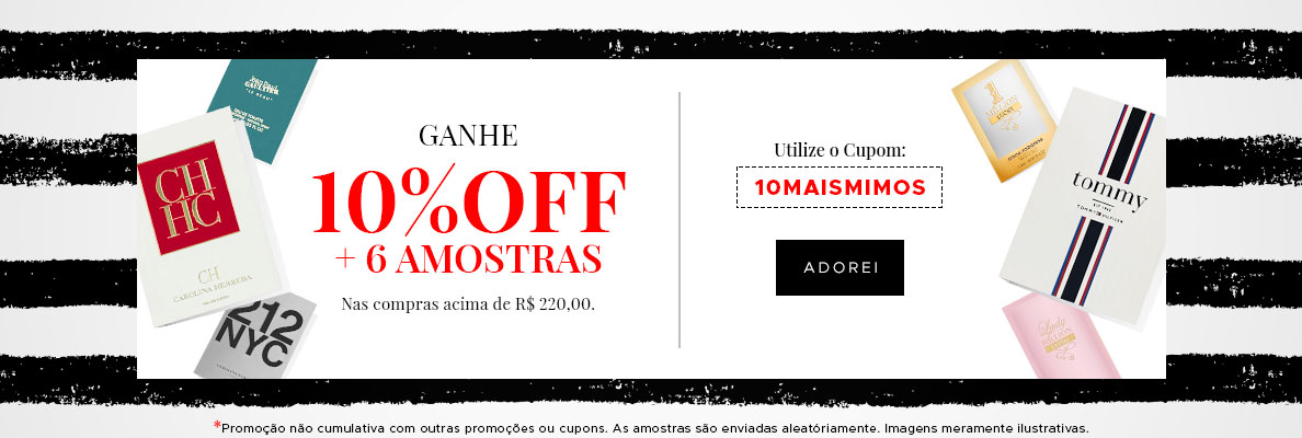 10% OFF + 6 Amostras (on)